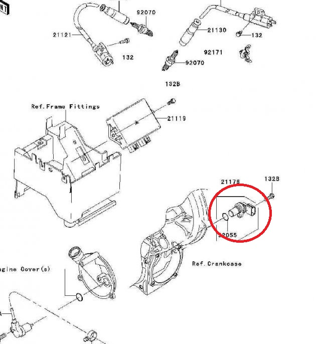 snima u010d senzor r u00fdchlosti kawasaki atv 211761104 speed senzor